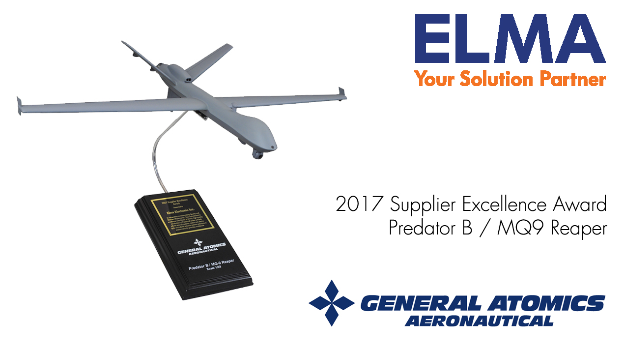General Atomics Supplier Excellence Award for Elma