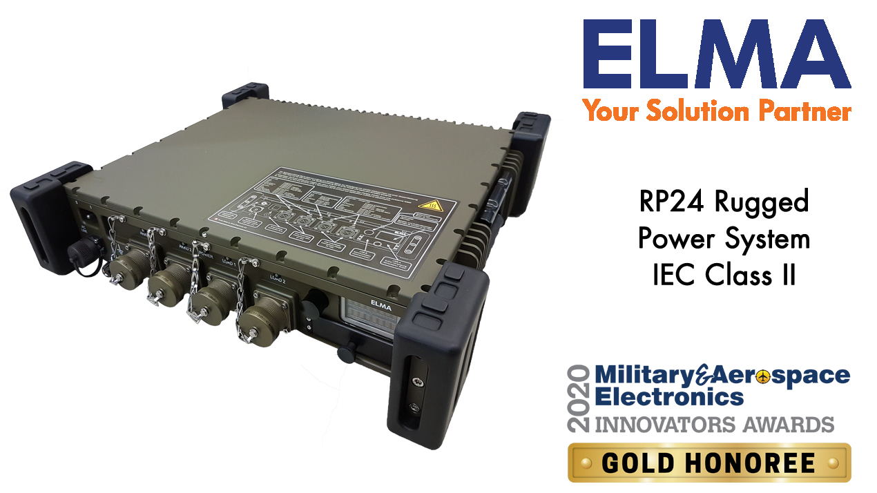 Military & Aerospace Electronics 2020 Gold Award - RP24 Rugged Power System